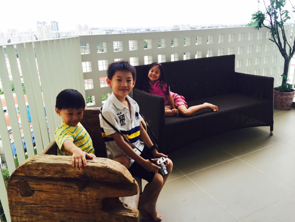 Chilling out in the balcony - every room has a drool-worthy view, thanks to a spacious balcony