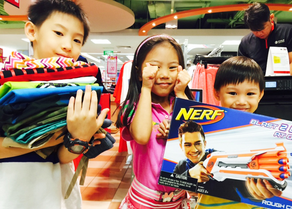 Kids got their shopping fix at Junction 8