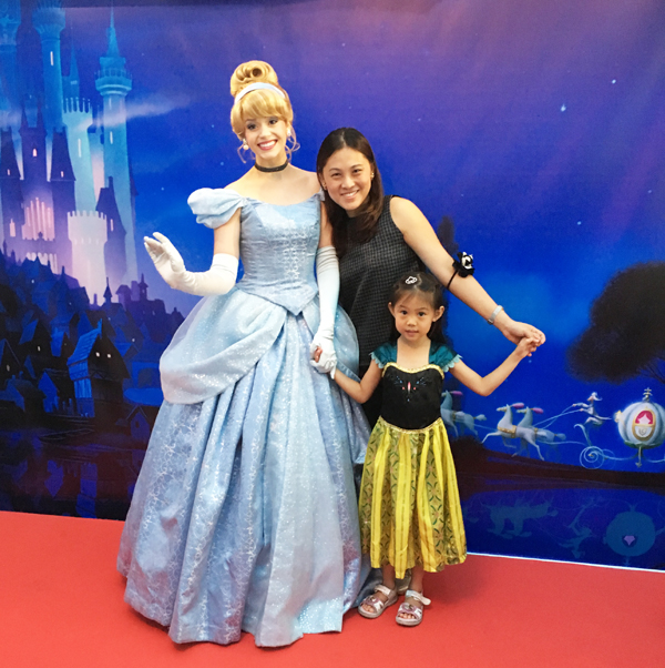 'Mama, let's take a picture with Cinderella,' she said. 'Come with me.'