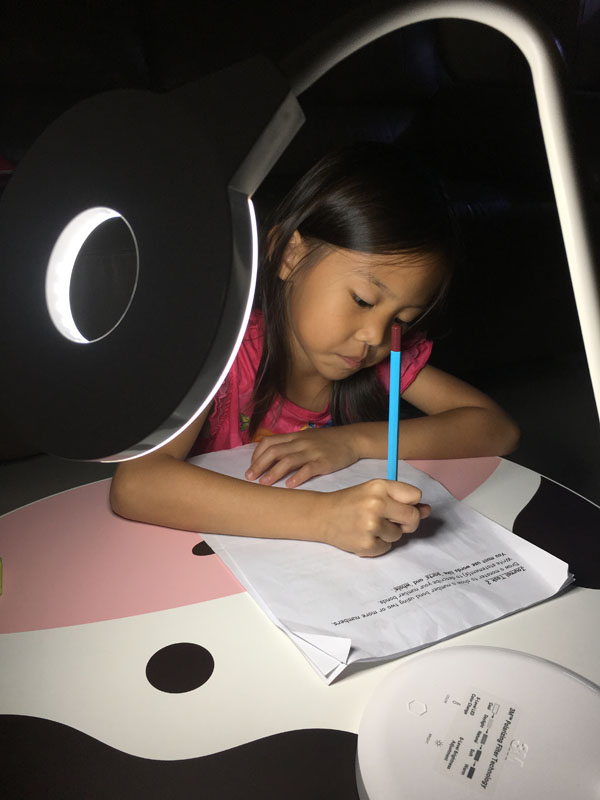 The LED P1610 Polarizing Task Light also gives free angle control. I use it to clean the kids' ears at night too!
