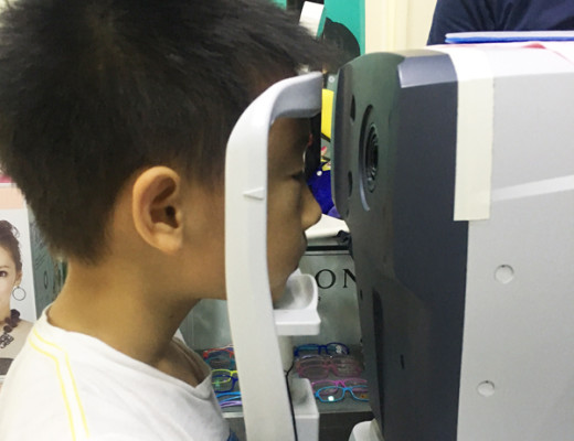 Eye examination to assess for clarity of sight