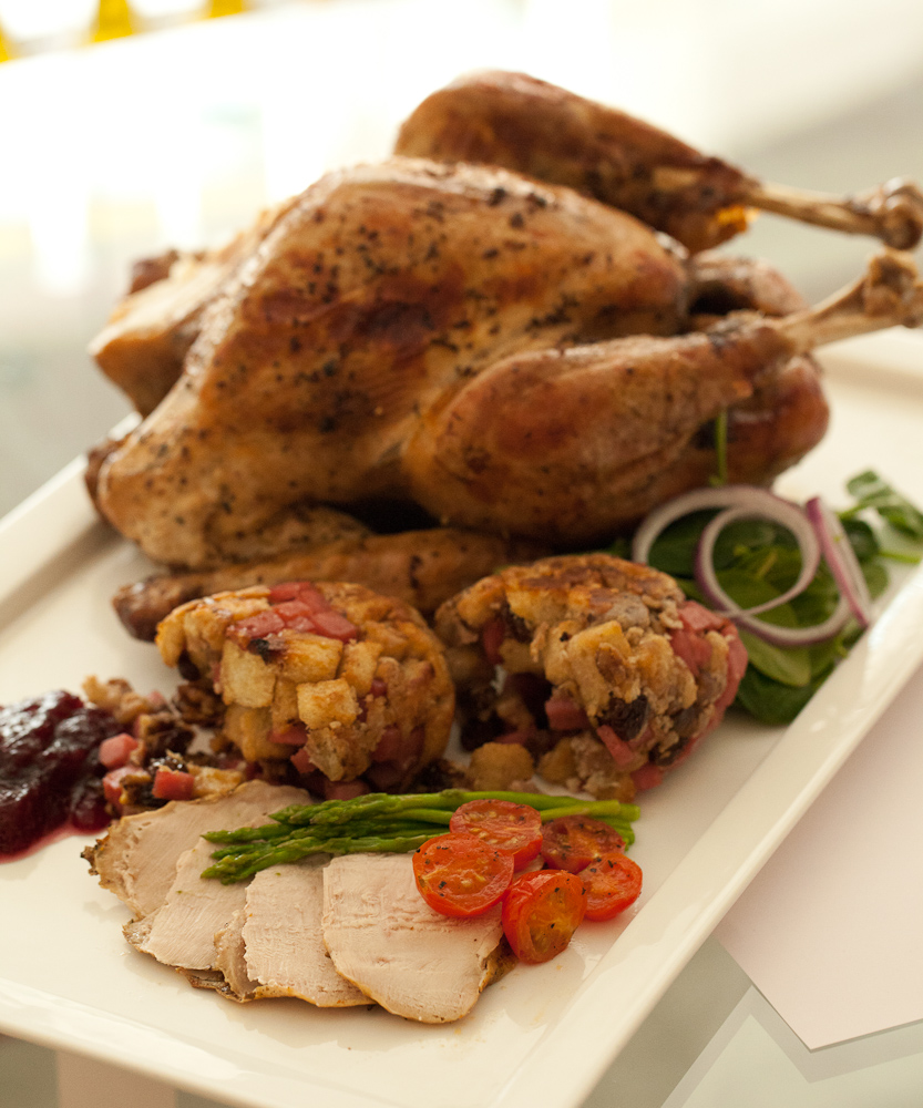 Roast Turkey with Traditional Sausage and Walnut Stuffing, Gravy and ...